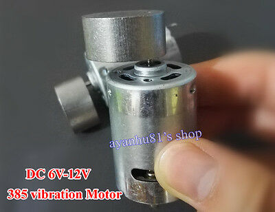 DC 6V-12V 385 Motor 27mm Vibrator Vibrating Vibration Motor for Vibrate Massager