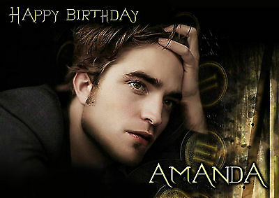 Personalised Twilight Edward Cullen Robert Pattinson Birthday Card