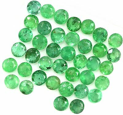 NATURAL COLOMBIAN GREEN EMERALD LOOSE GEMSTONES (1 piece) ROUND CUT ( 4.7 mm)