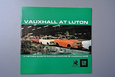 Vintage Brochure/Visitor Guide to Luton, Vauxhall Firenza/Cresta 1971, Scarce