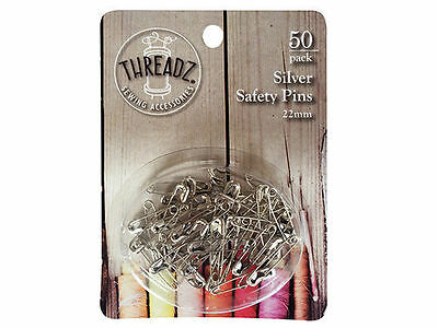 96 50pk safety pins 22mm silver bulk wholesale lot craft