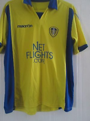 Leeds United 2009-2010 Away Football Shirt Adult Size Large ls /40819