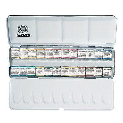 Schmincke Akademie Artists Quality Watercolours - 24 Half Pan Set (75 424)