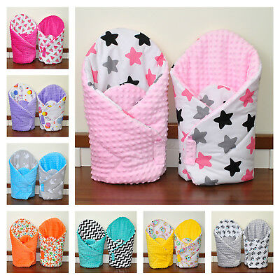 Baby Newborn Wrap/two sided/ sleeping bag/ you will love it/pink/blue/plush