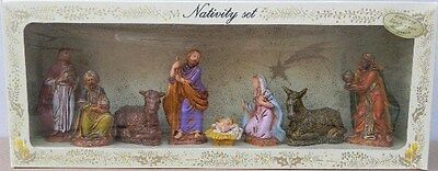 NATIVITY SCENE FIGURES,7 pc to 9 cm,Crib,Christmas,Exclusive Made Italy No. 2
