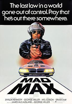 """ Mad Max "" Plakat 2 Mel Gibson Klassisches 1979 Action Filmposter A1a2a3a4sizes"