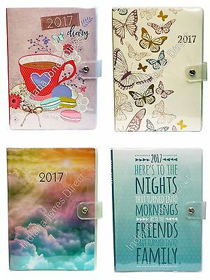 New Year Diary 2017 Sleeve Cover Button Hipster Planner School College Organiser