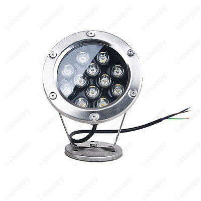 High Power 12W LED Outdoor Underwater Lamp Flood Light 12V Swimming Pool Garden