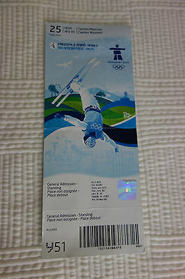 2010 Vancouver Olympic Freestyle Skiing Ticket 2/24 Men's Aerials Cypress Stub