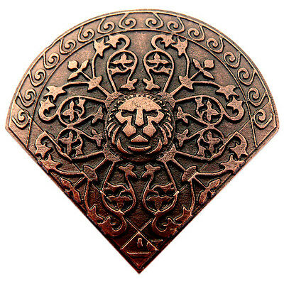 8 pcs LION-HEART XL CONCHO AB Conchos Rivet Viking Wolf Pin Leather Crafters