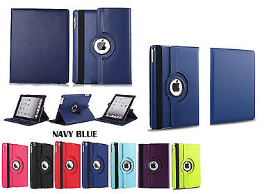New iPad Case 360 Rotating Leather Stand Case for iPad 234 Mini 123 Air/Air 2