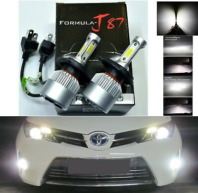LED Kit N2 72W 9003 HB2 H4 6000K White Two Bulbs Head Light Dual High Low Beam
