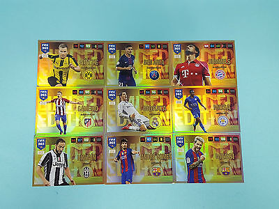 Panini Adrenalyn XL FIFA 365 2017 9 x  Limited Edition Set 2 Trading Card Messi