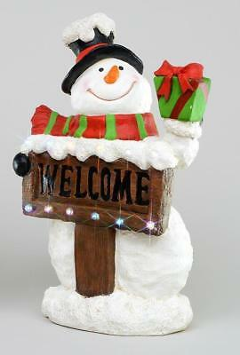 Large Snowman Welcome Resin LED & Music Outdoor / Indoor Christmas Figure 68cm