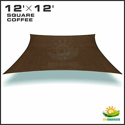 2Nd Generation 12 X12 Rectangle Sun Shade Sail Uv Top Outdoor Canopy Patio Lawn