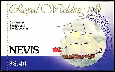 Nevis 1981 SG#SB2 Royal Wedding Stamp Booklet FDI MNH #C37472