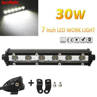 7inch BAR 30W 3000LM Spot LED Single Row Work Light OSRAM OFFROAD DRIVING SUV