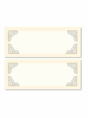GOLD 24 Table Place Name Settings Meal Cards Wedding Party Birthday Dinner Xmas