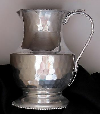 "Cromwell Hand Wrought Aluminum Water Pitcher with Ice Lip 9"" FUNKY CHIC"
