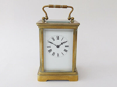 Early/Mid 20th Century Brass Cased Carriage Clock | White Roman Dial