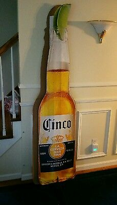 Cinco Extra ~ 6 foot Cardboard Double Sided Bottle Shape Sign