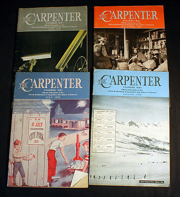 The Carpenter Publication United Brotherhood of Carpenters Joiners America 1959