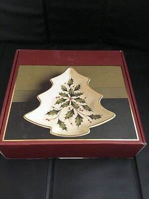 Brand New Lenox Holiday Tree Candy Dish #143310 In Original Box