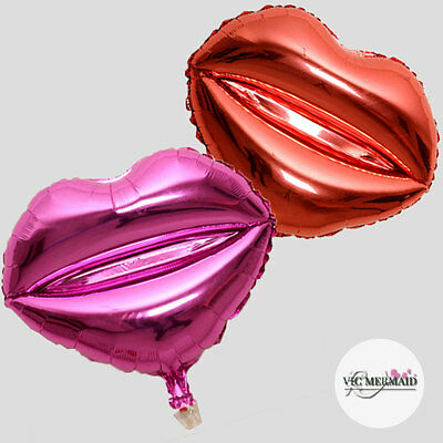 """Sexy Lip Foil Balloons Wedding Birthday Hens Night Party Decorations 18"""" Pink"""