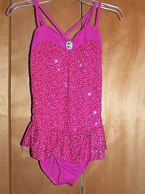 PINK SEQUIN DANCE COSTUME (Sz  Adult Med) - FREE US SHIPPING!