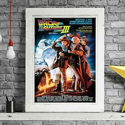 BACK TO THE FUTURE 3 - Movie Poster Picture Print Sizes A5 to A0 **FREE DELIVERY