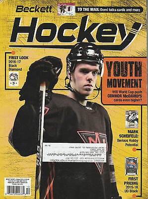 Beckett Hockey Card Monthly Price Guide Oct 2016 Connor Mcdavid Cover