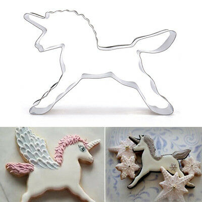 Unicorn Horse Cookies Cutter Mold Biscuit Pastry Baking Animal Bakery Tool