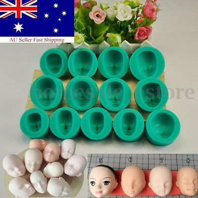 13 Styles Silicone Face Fondant Mold Gum Pastry Mould Cake Decorating Sugarcraft