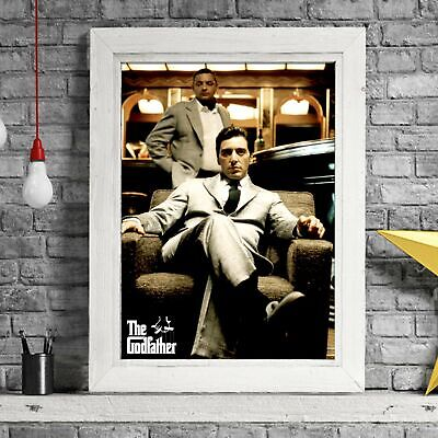 THE GODFATHER - Cult Movie Poster Picture Print Sizes A5 to A0 **FREE DELIVERY**