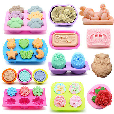 48 Styles Silicone Soap Mold DIY Candy Chocolate Mold Cake Cookie Baking Molds