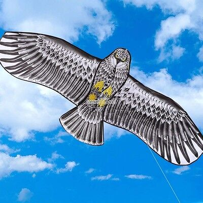 3D 173x79cm OUTDOOR SPORT EAGLE BIRD HUGE TOY KITE GIFT IDEA FUN STUNT CONTROL