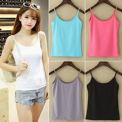 Camisole Top Beach Cami T-Shirts Women's Singlet Summer Casual Basic Tank Shirt