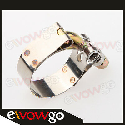 """1"""" Inch Turbo Pipe Hose Coupler T-bolt Clamp 31-36mm Stainless Steel"""