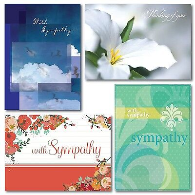 Sympathy Greeting Card Assortment. A boxed set of 28 cards and 29 envelopes. ...