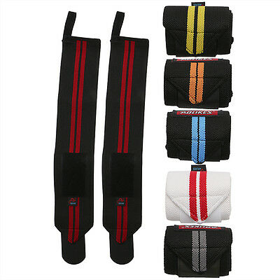 Wrist Straps Weight Lifting Crossfit Powerlifting Bodybuilding Support A-1538