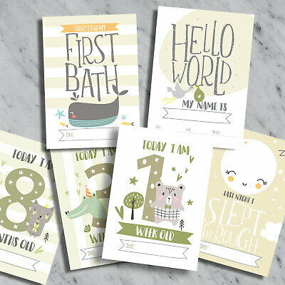 Baby Milestone Cards ~ 1st Year Memorable Moments Boy or Girl Neutral Age