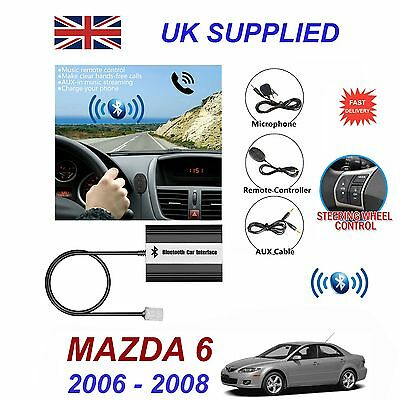 For Mazda 6 Bluetooth Hands Free Phone AUX Input MP3 USB 1A Charger Module 03-08