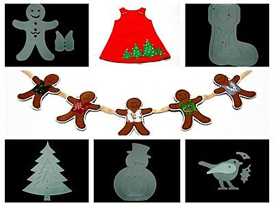 Christmas acrylic craft template bundle - five templates
