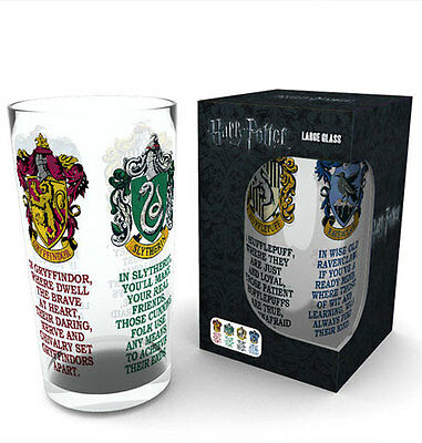 Harry Potter House Crests Bierglas Pint Glass 0,5 Liter Höhe 14,7cm, Ø9cm
