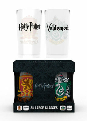 Harry Potter - Crests - Glas-Set 2x 0,5 L Gläser 14,7 cm  Ø9 cm
