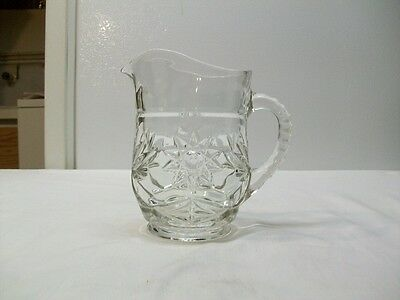 Anchor Hocking Early American Prescut Milk Pitcher