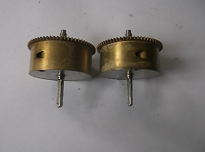 2  Smiths  Mainspring Barells From An Old  Mantle Clock Ref 9