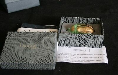 Lalique Scarab With Original Box And Paper Work
