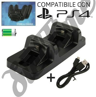 Ps4 Base Di Ricarica Dual Charging Dock Per Controller Wireless Dualshock 4 Usb