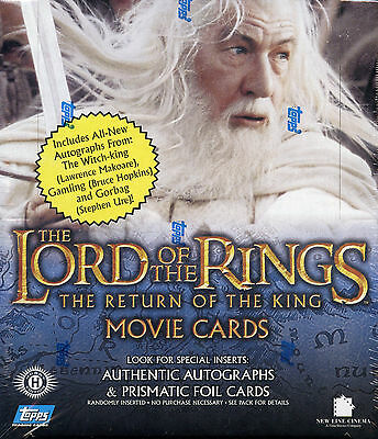 Lord of the Rings Return of the King Second Edition 8 WAX BOX CASE CARDS CARD